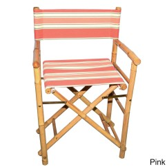Striped Directors Chairs Chair Covers For Folding Wedding Shop Handmade Set Of 2 Bamboo Director S With Canvas Vietnam Free Shipping Today Overstock Com 11802838
