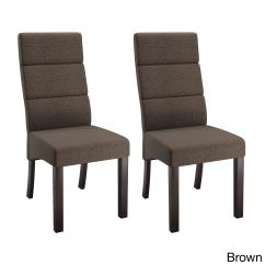 Tall Back Dining Chairs Patio Rocking Chair Canada Shop Corliving Antonio Upholstered Set Of 2