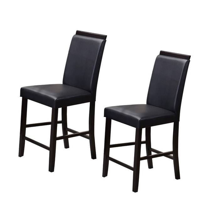 black parsons chair top high shop k b white red grey faux leather chairs set of 2