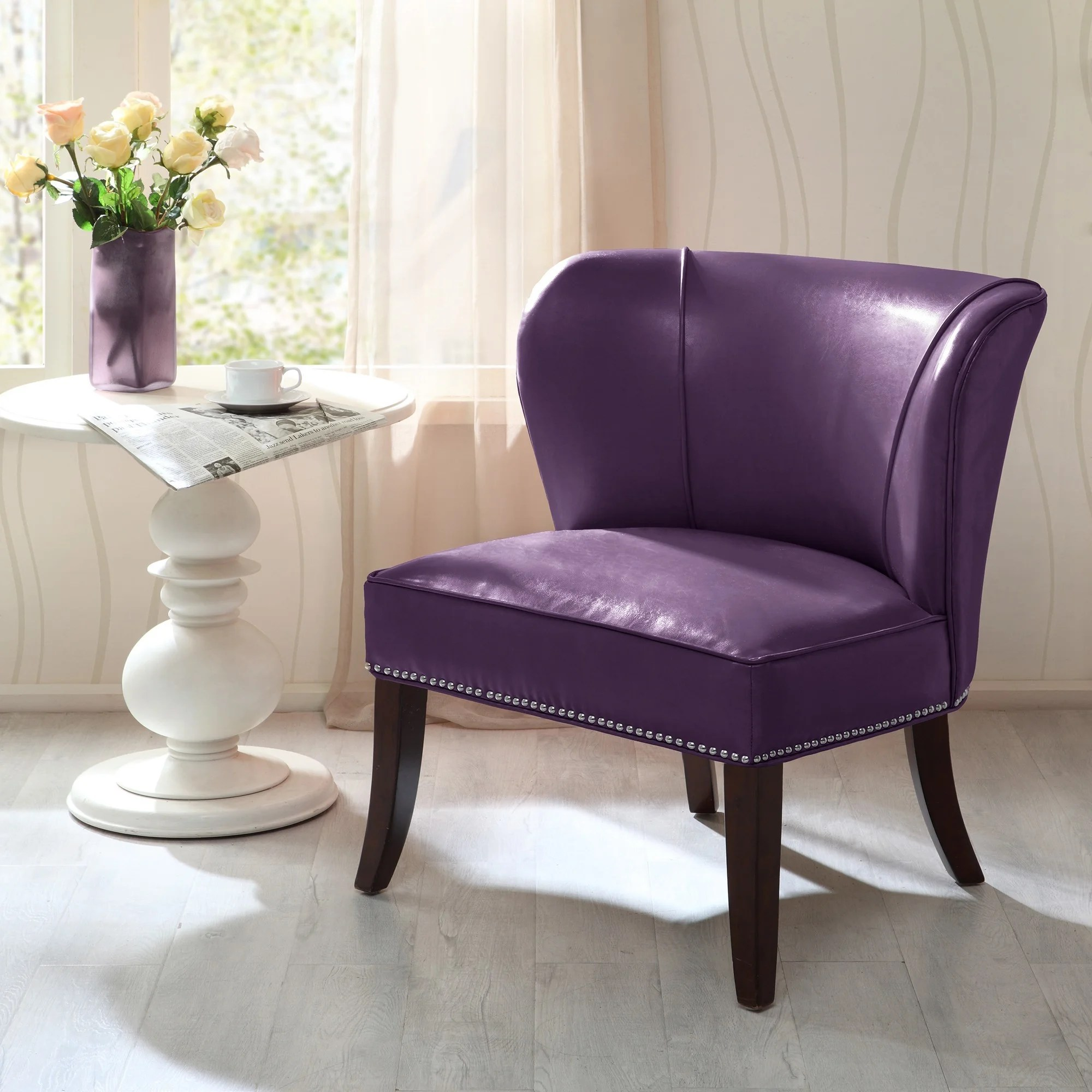Purple Accent Chair Madison Park Sheldon Purple Armless Accent Chair