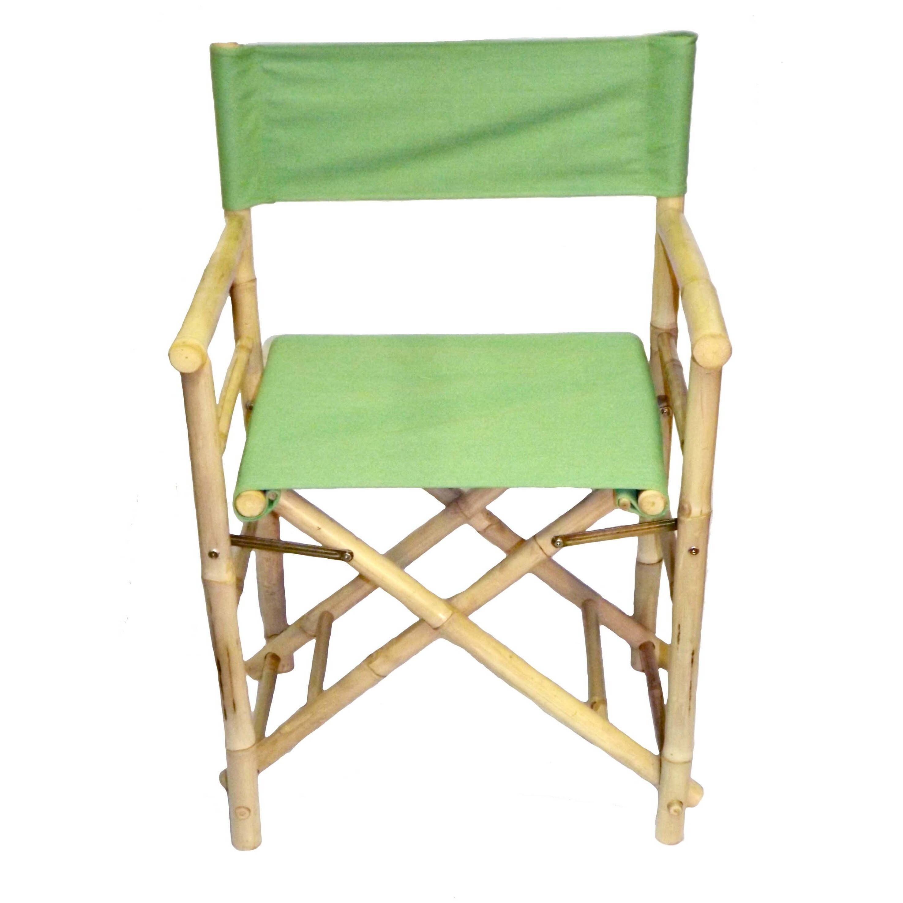 bamboo directors chairs designer for living room shop handmade set of 2 director s vietnam free shipping today overstock com 11897323