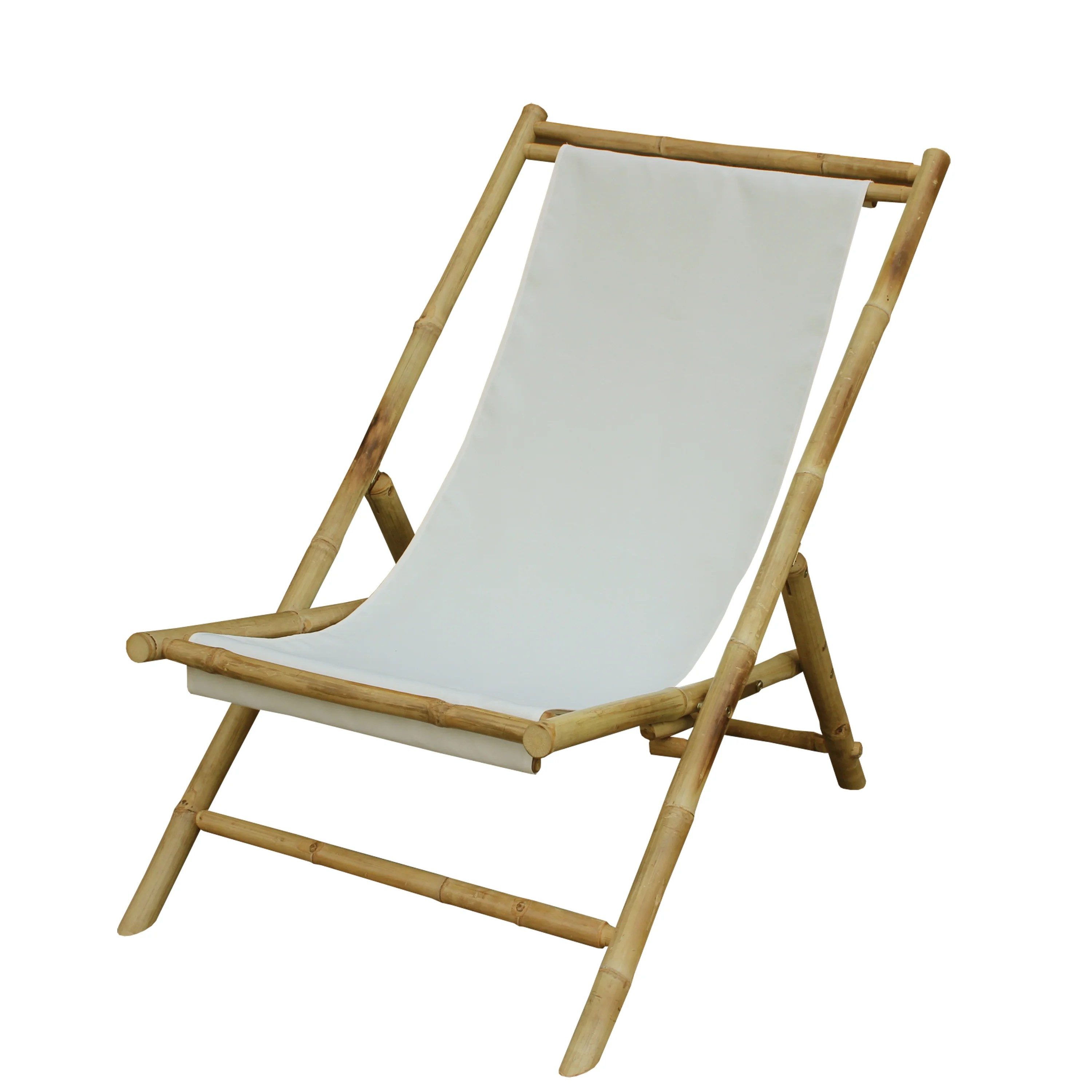 Foldable Patio Chairs Zew Hand Crafted Foldable Bamboo Sling Patio Chair