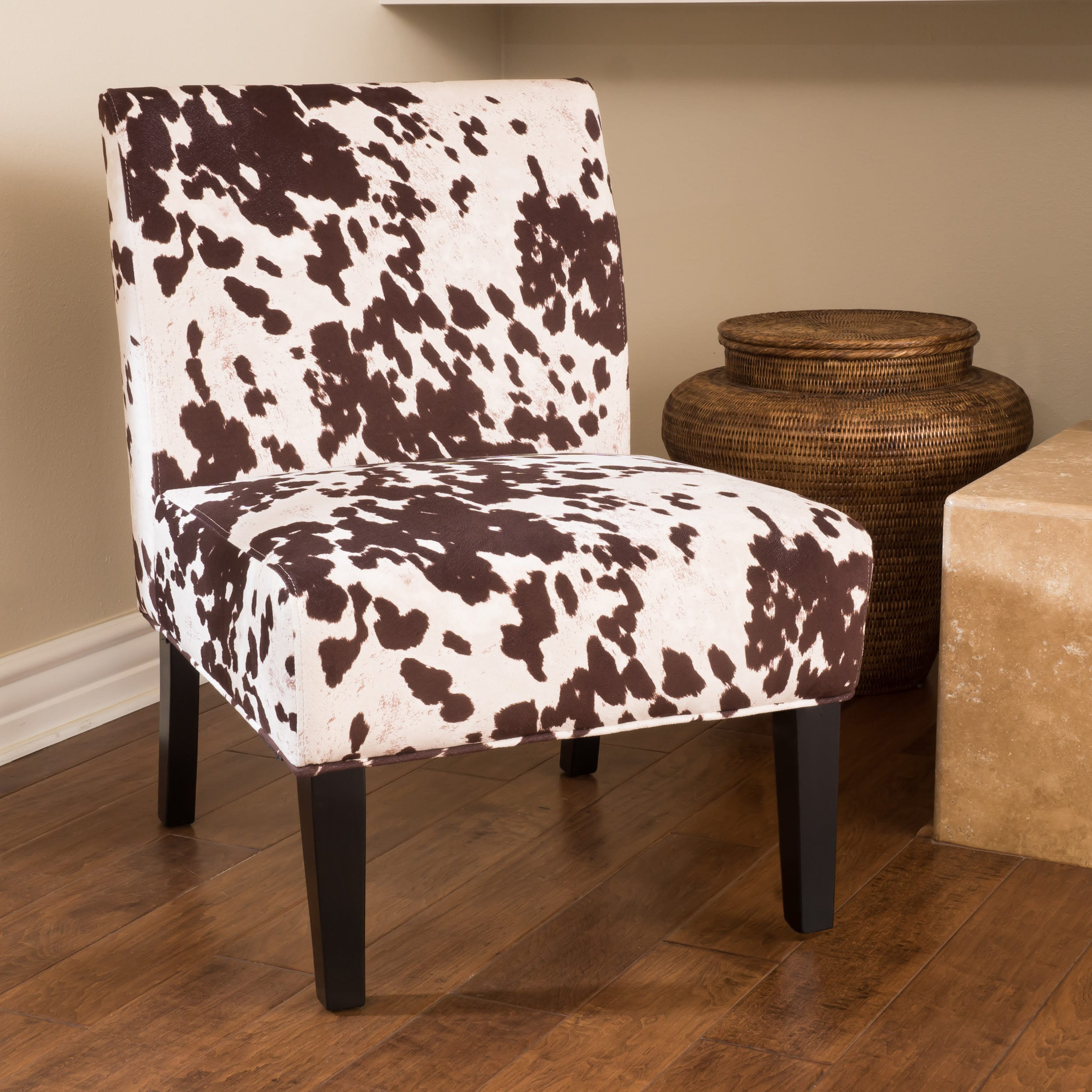 Cow Hide Chair Saloon Fabric Cowhide Print Chair Set Of 2 By Christopher Knight Home