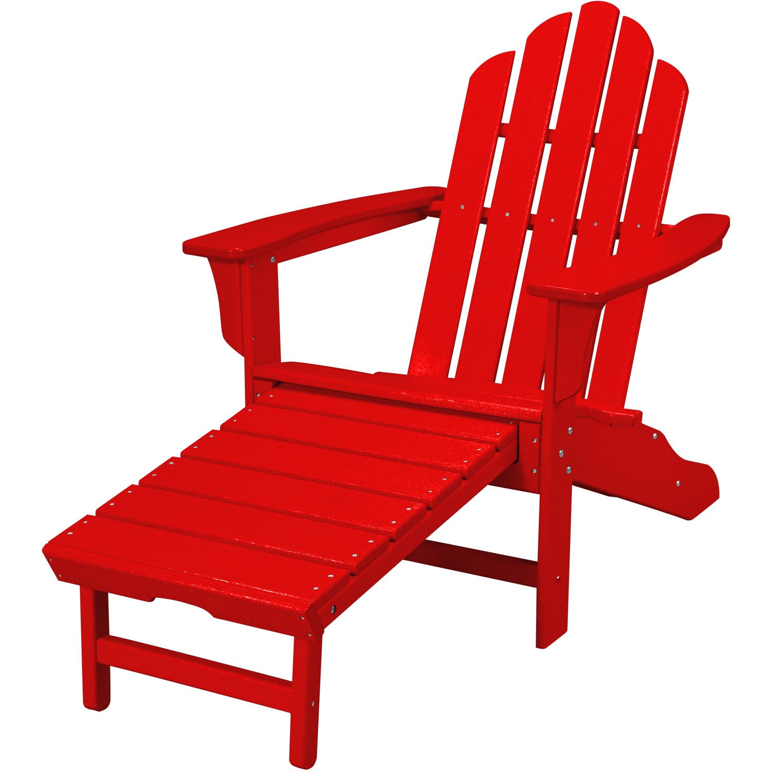 Red Adirondack Chairs Hanover Outdoor Hvlna15sr Sunset Red All Weather Contoured Adirondack Chair With Hideaway Ottoman
