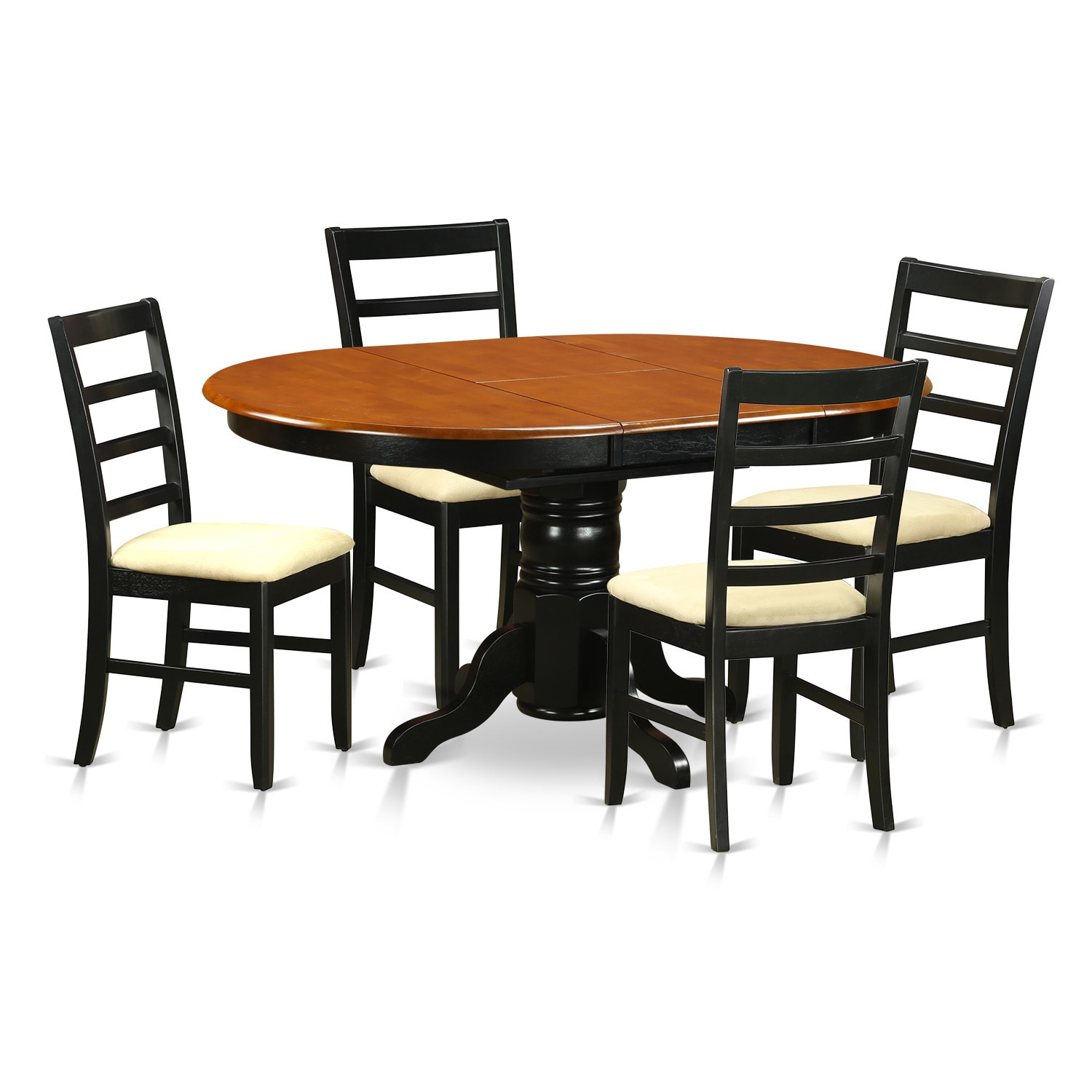 Black Dining Room Table And Chairs Avon Cherry And Black Finish Rubberwood 5 Piece Dining Room Set With Dining Table And 4 Chairs