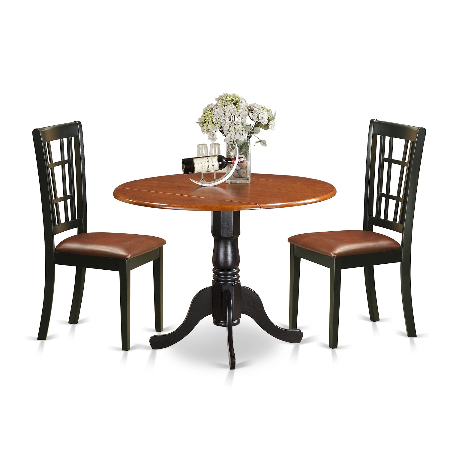 oak kitchen table sets inexpensive countertops for kitchens shop 3 piece dublin set with dining and 2 solid wood chairs free shipping today overstock com 12028019