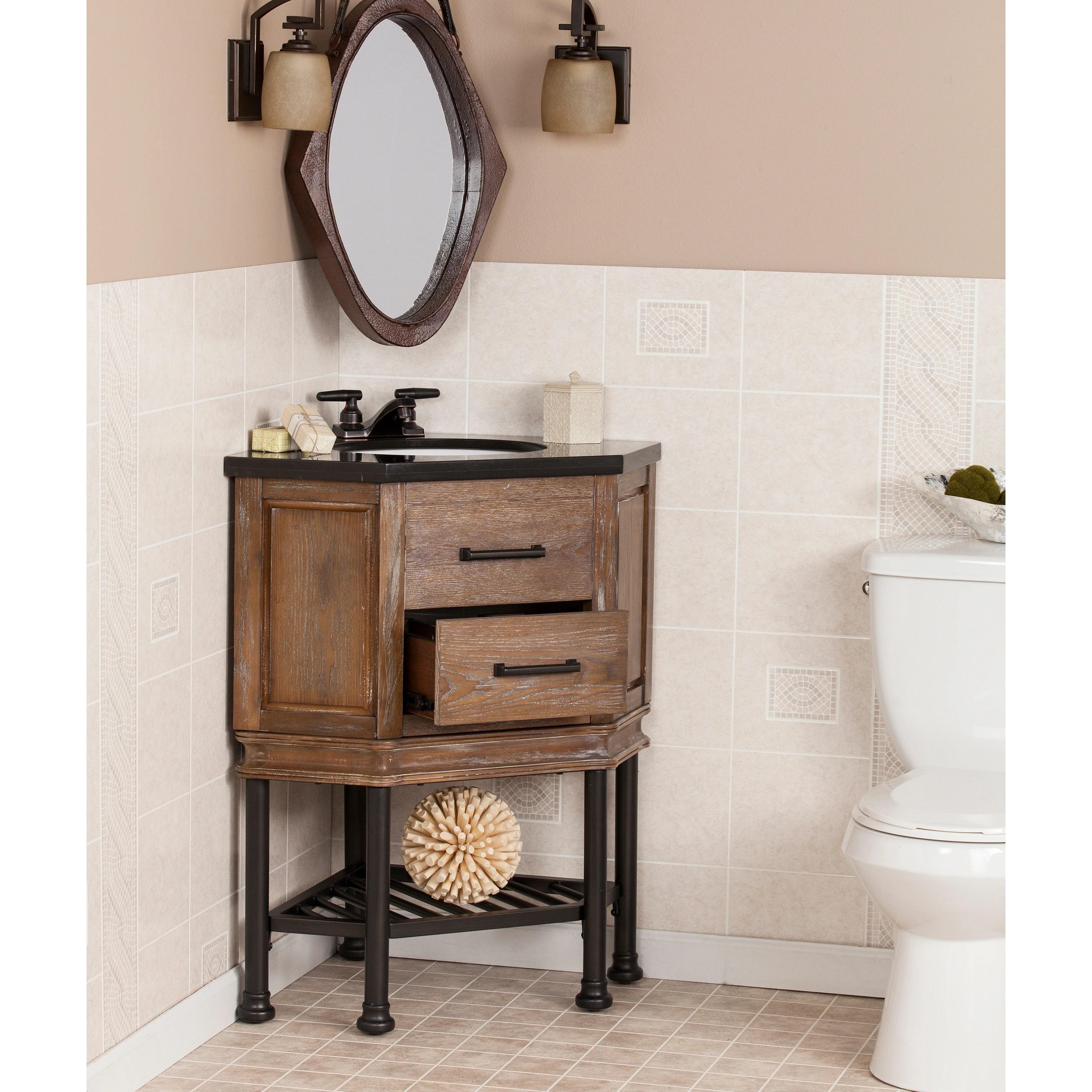 Shop Ballard Granite Top Corner Bath Vanity Sink Overstock 12051869