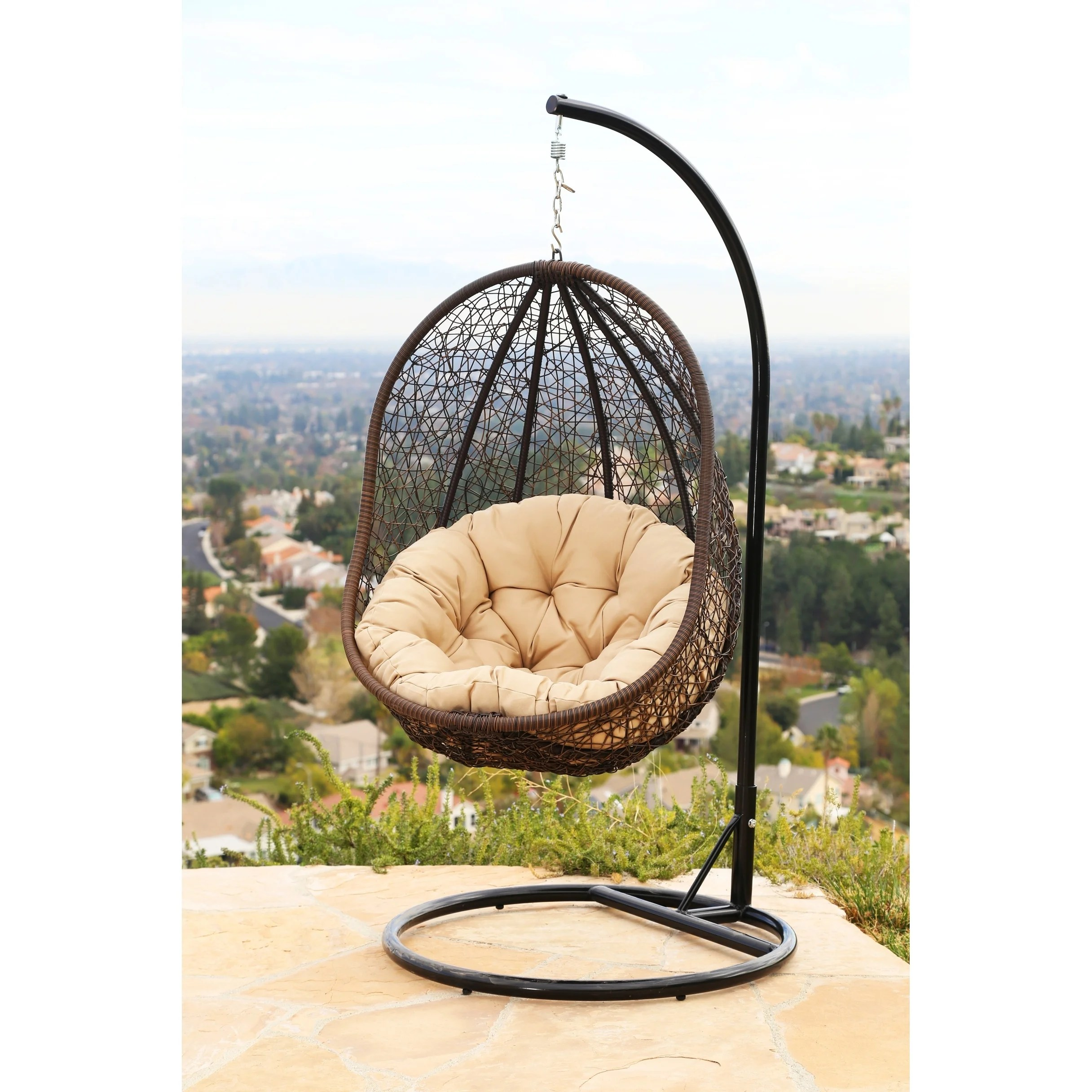 outdoor wicker swing chair design with price shop abbyson milania on sale free
