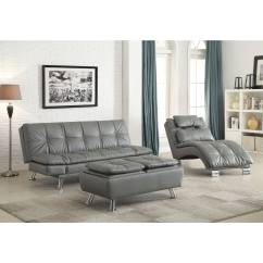 Coaster Tess Sectional Sofa How To Design A Table Shop Company Dilleston Grey Bed In Futon Style With Chrome Legs Free Shipping Today Overstock Com 12189532