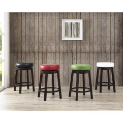 Counter Height Bar Chairs Coleman Camp With Side Table Shop Swivel Stool Leather Seat And Metal Foot Rest Set Of 2