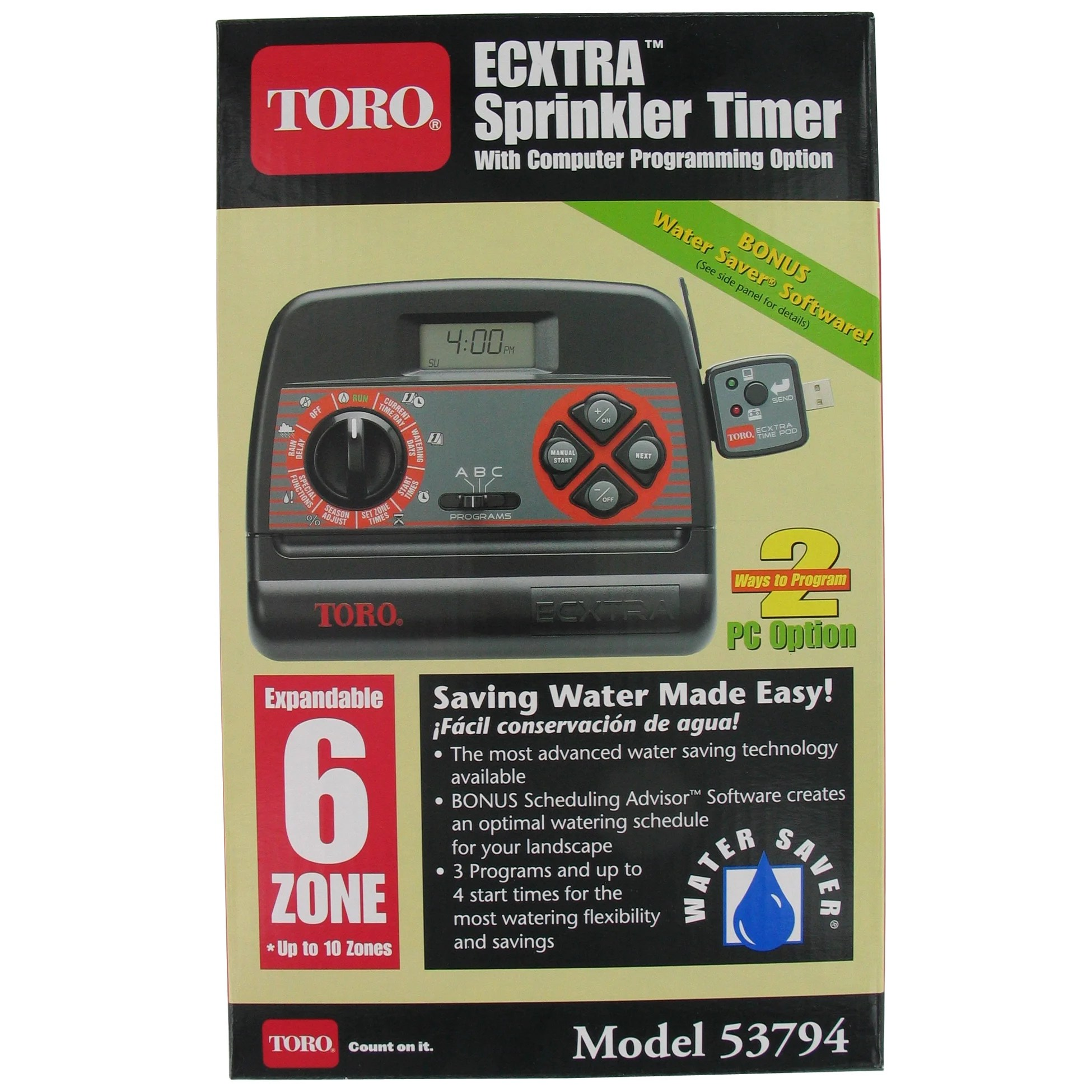 hight resolution of shop toro 53794 6 zone indoor sprinkler timer free shipping today overstock 12306583