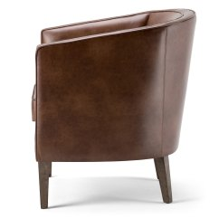 Tub Chair Brown Leather Office Wheels For Laminate Floors Shop Wyndenhall Walker Bonded Free Shipping Today Overstock Com 12331900