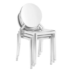 Steel Chair Gold Silver Covers Cheap Shop Zuo Eclipse Stainless Dining In Or Set Of 2 Free Shipping Today Overstock Com 12432203