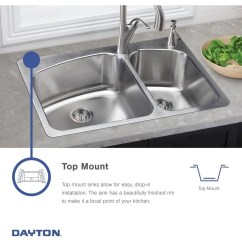 33x19 Kitchen Sink Craigslist Table And Chairs Shop Elkay Dayton Stainless Steel 33 X 19 8 Equal Double Bowl Top Mount Free Shipping Today Overstock Com 12675358