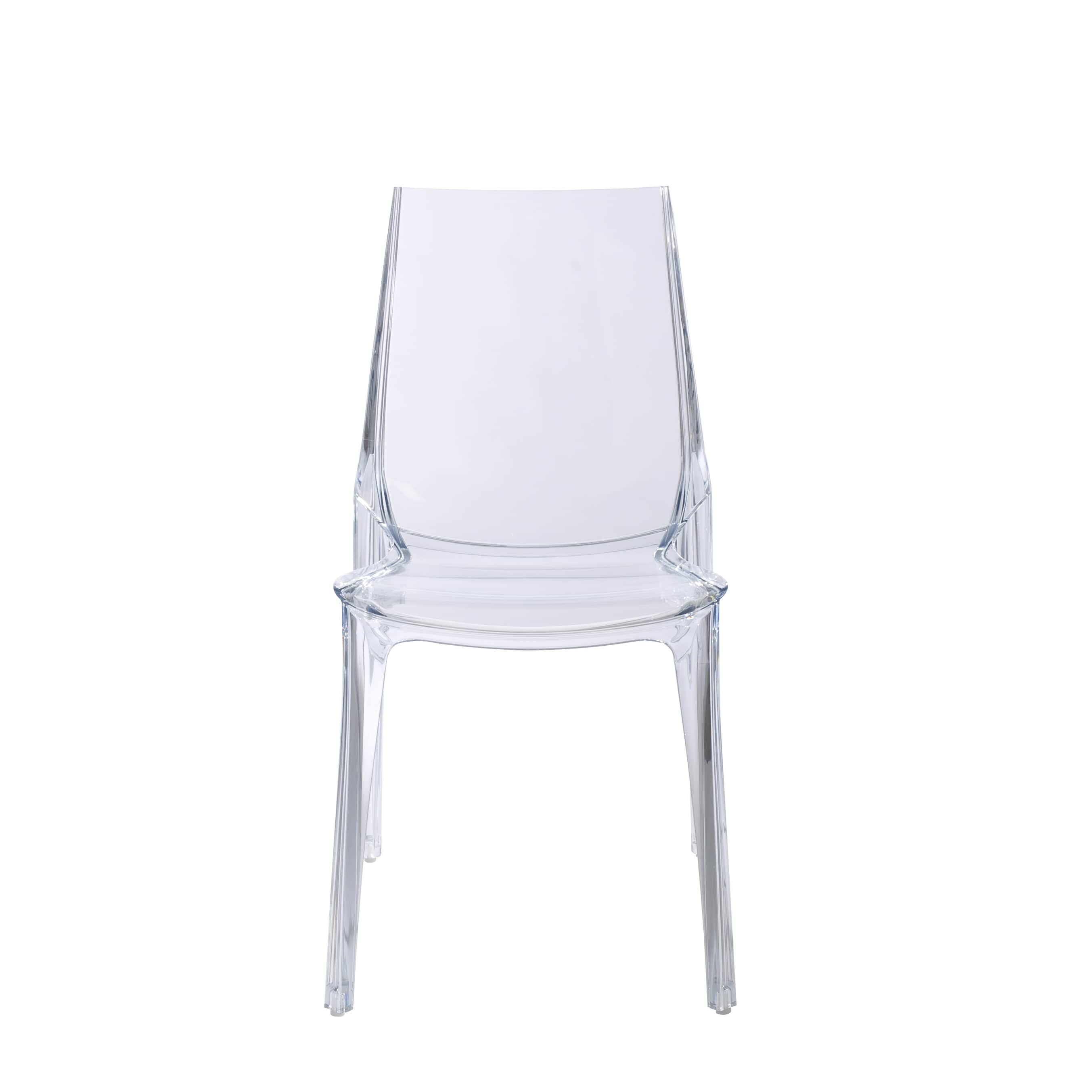 Clear Vanity Chair Clear Polycarbonate Stackable Vanity Dining Chair Set Of 4