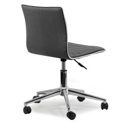 Grey Material Office Chair Electric For Stairs In India Shop Aiko Fabric Chrome Metal Swivel With Wheels On Sale Free Shipping Today Overstock Com 12816273