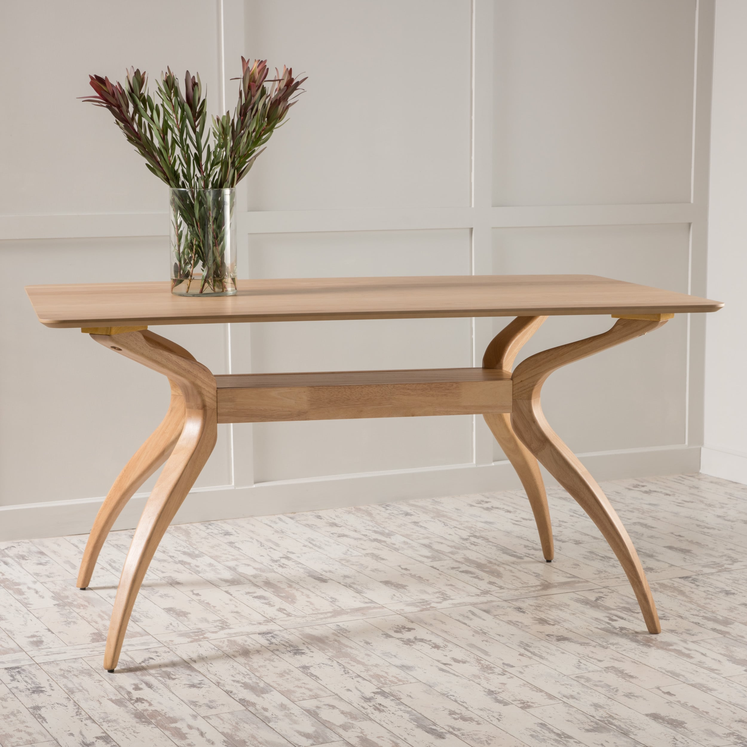Salli Chair Salli Natural Finish Wood Dining Table By Christopher Knight Home