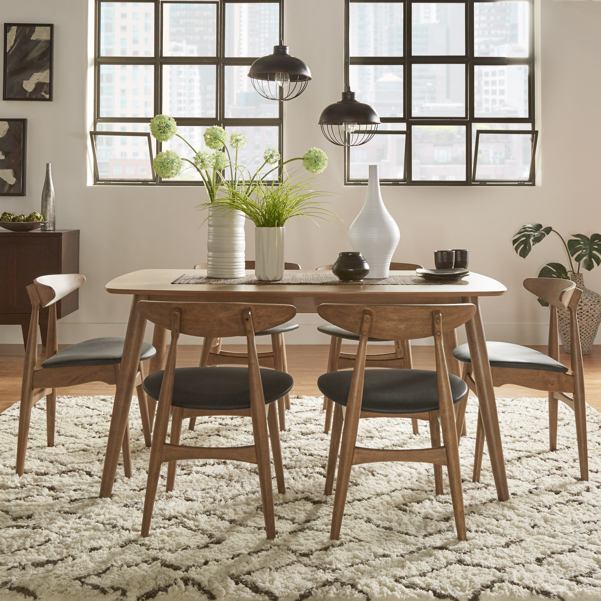 danish modern dining chairs revolving chair india shop norwegian chestnut tapered set by inspire q