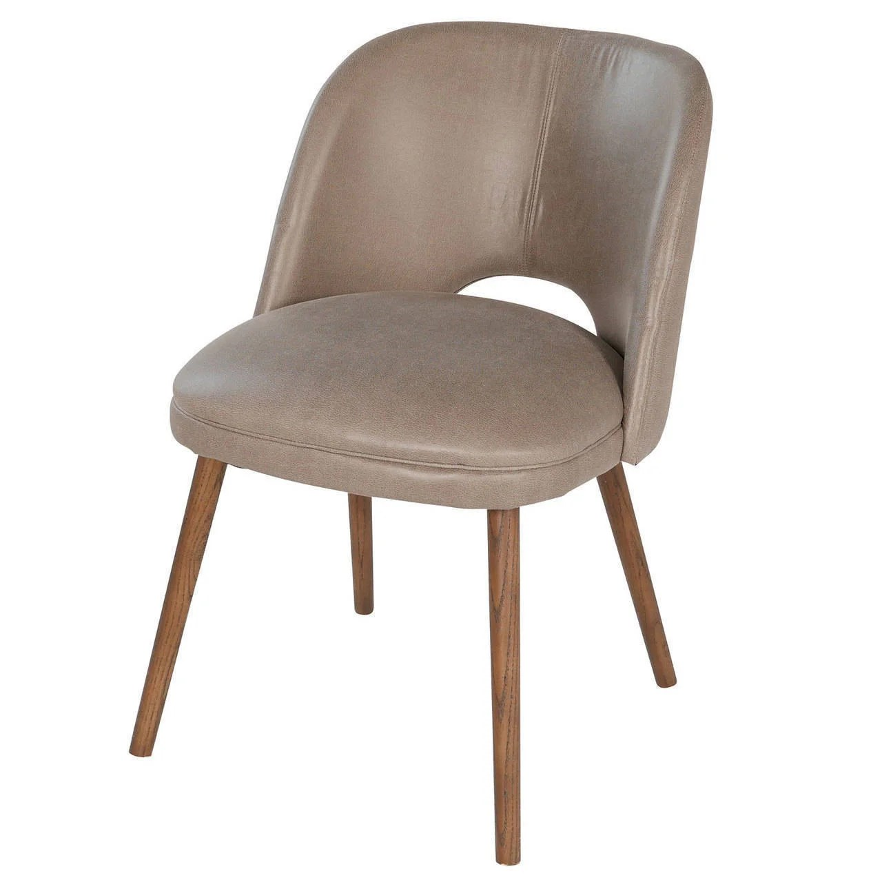 faux leather dining chairs oversized anti gravity chair shop french barrel back grey on sale