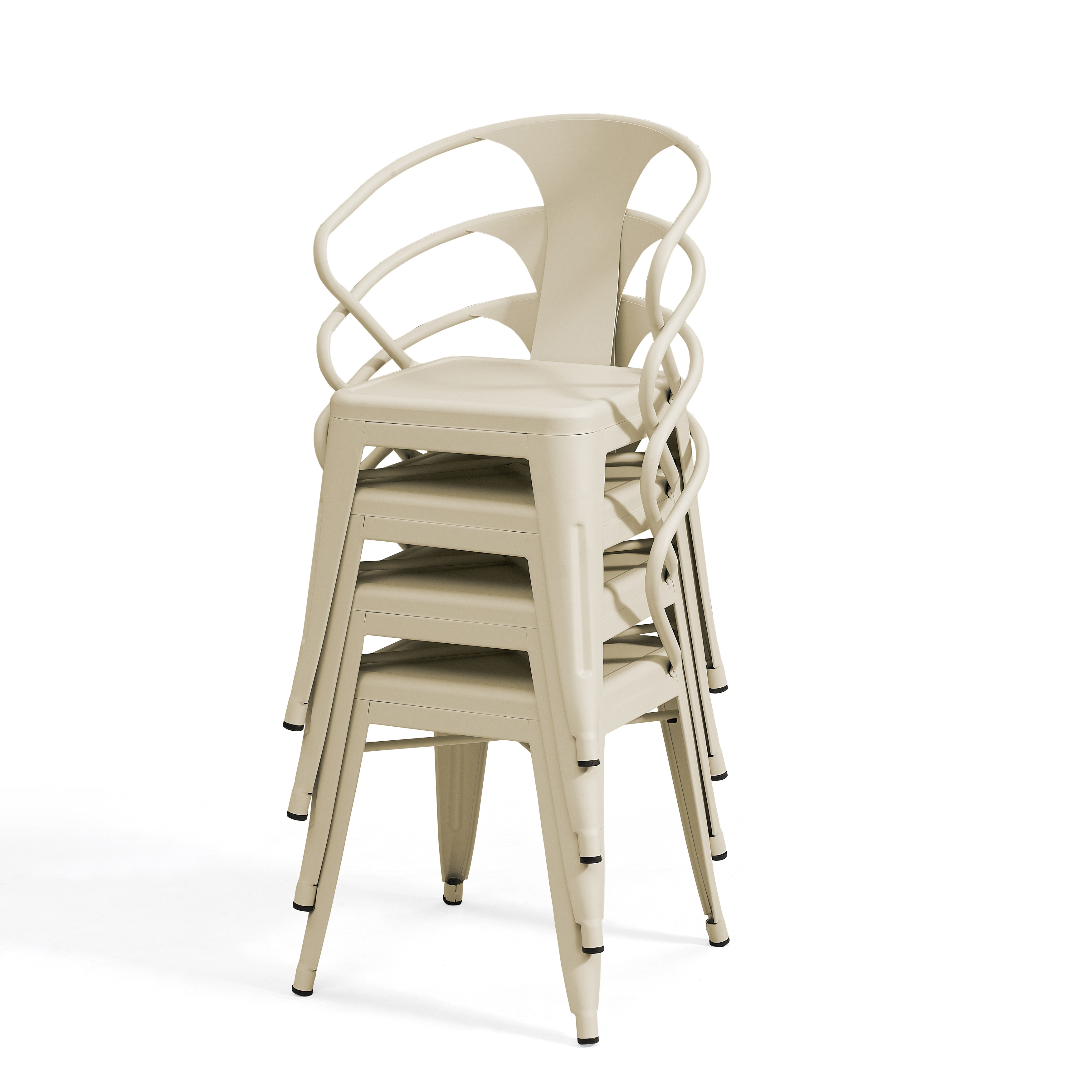 metal stacking chairs outdoor green universal chair covers shop tabouret cream set of 4 free shipping today overstock com 13134603