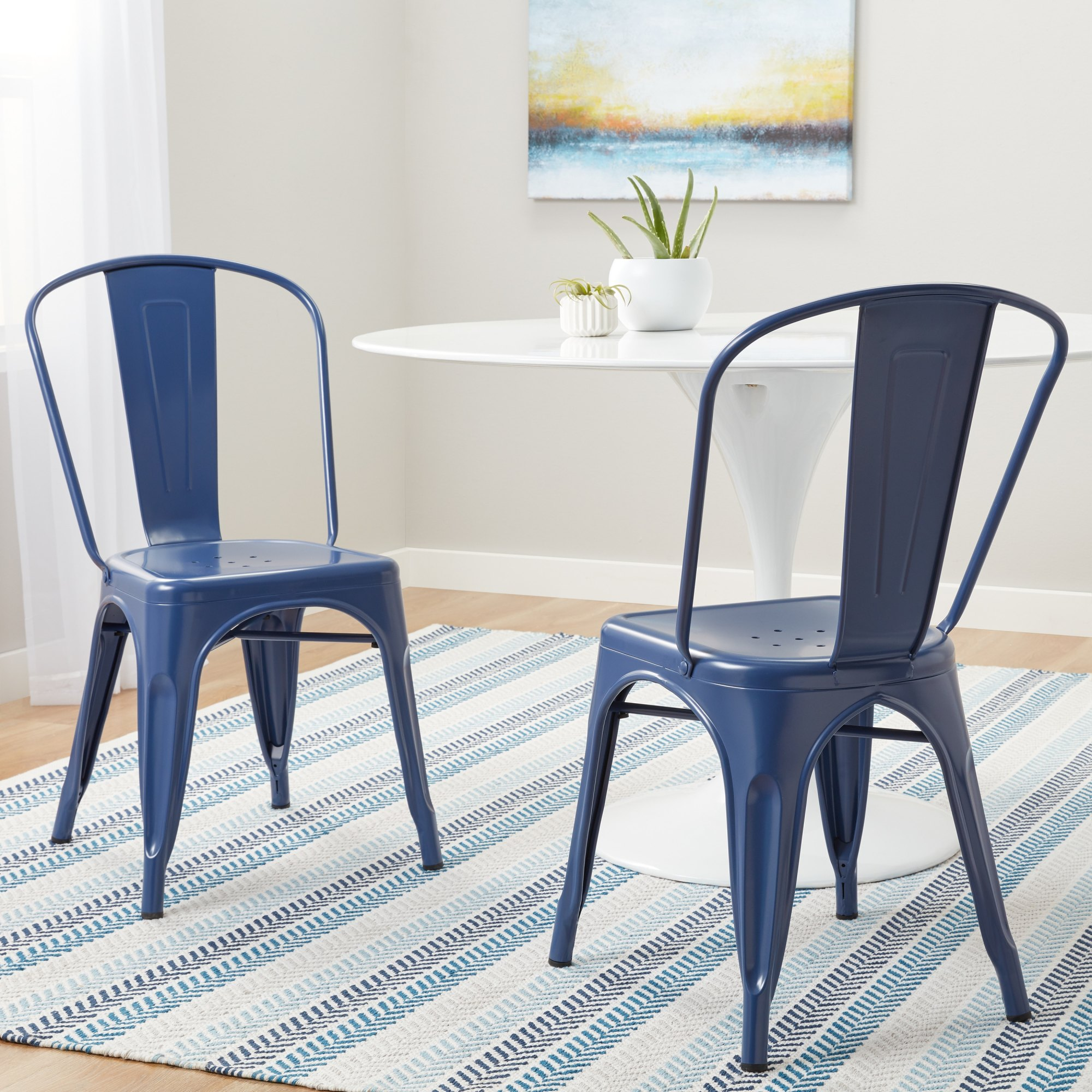 hight resolution of tabouret navy bistro dining chairs set of 2