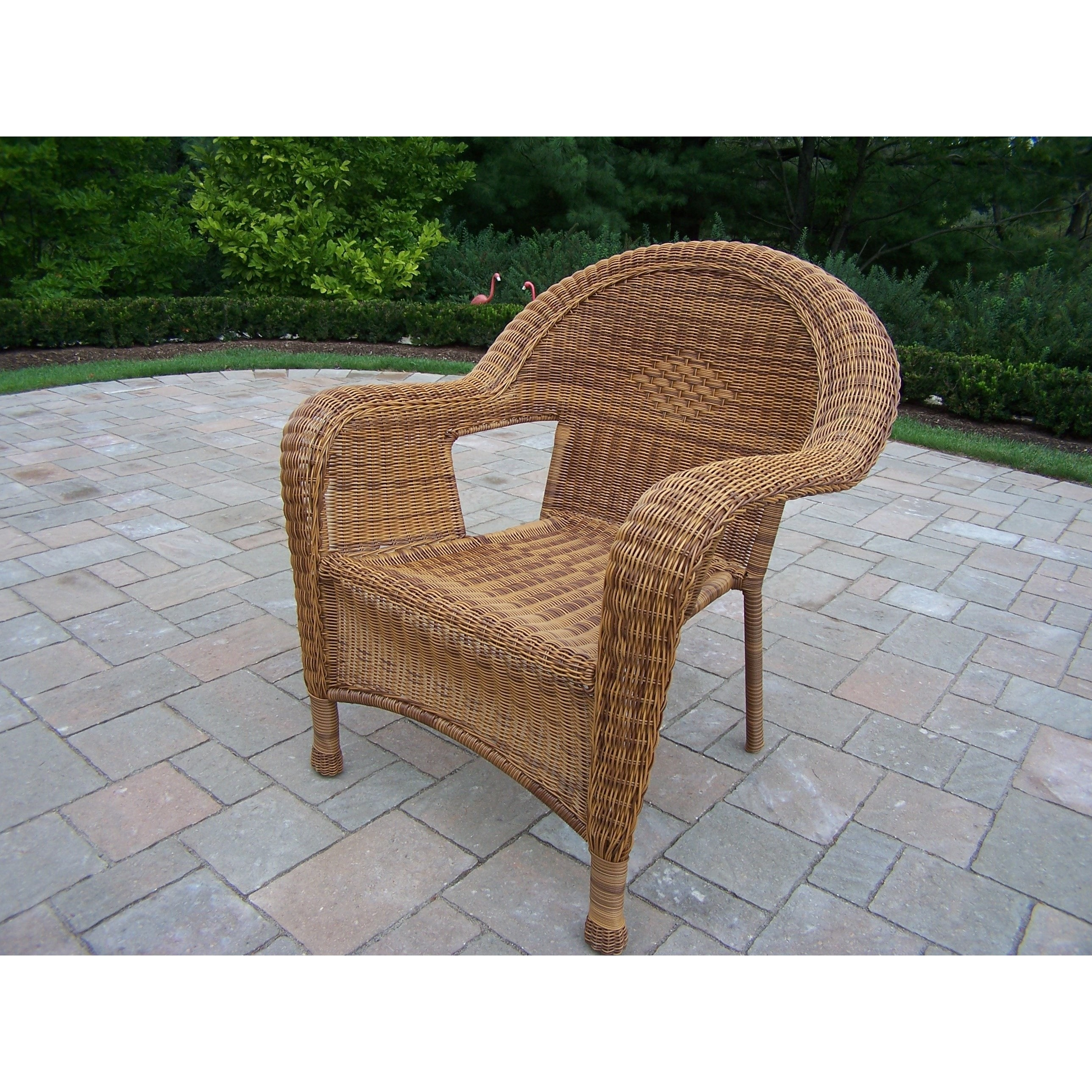 comfortable wicker chairs helinox one chair shop calabasas pair of resin arm 2 pack on sale free shipping today overstock com 13205382
