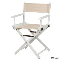 Directors Chair White Brown Leather Dining Chairs For Sale Shop Frame 18 Inch Director S 33 75 H X 21 W 17 D