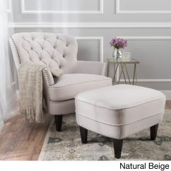 Tufted Chair And Ottoman Foldable Beach Chairs Shop Tafton Fabric Club With By Christopher Knight Home On Sale Free Shipping Today Overstock Com 13288524