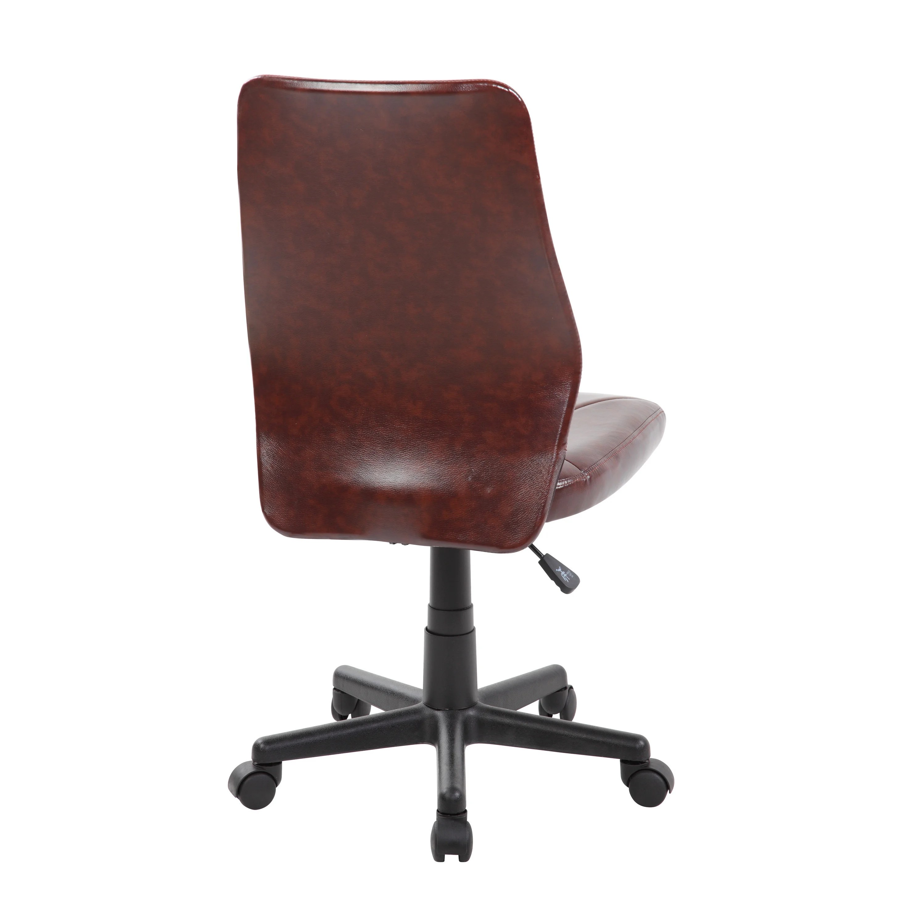 brown office chair without arms best big and tall chairs 2018 shop pu modern ergonomic mid back armless executive computer desk task free shipping today overstock com 13298755