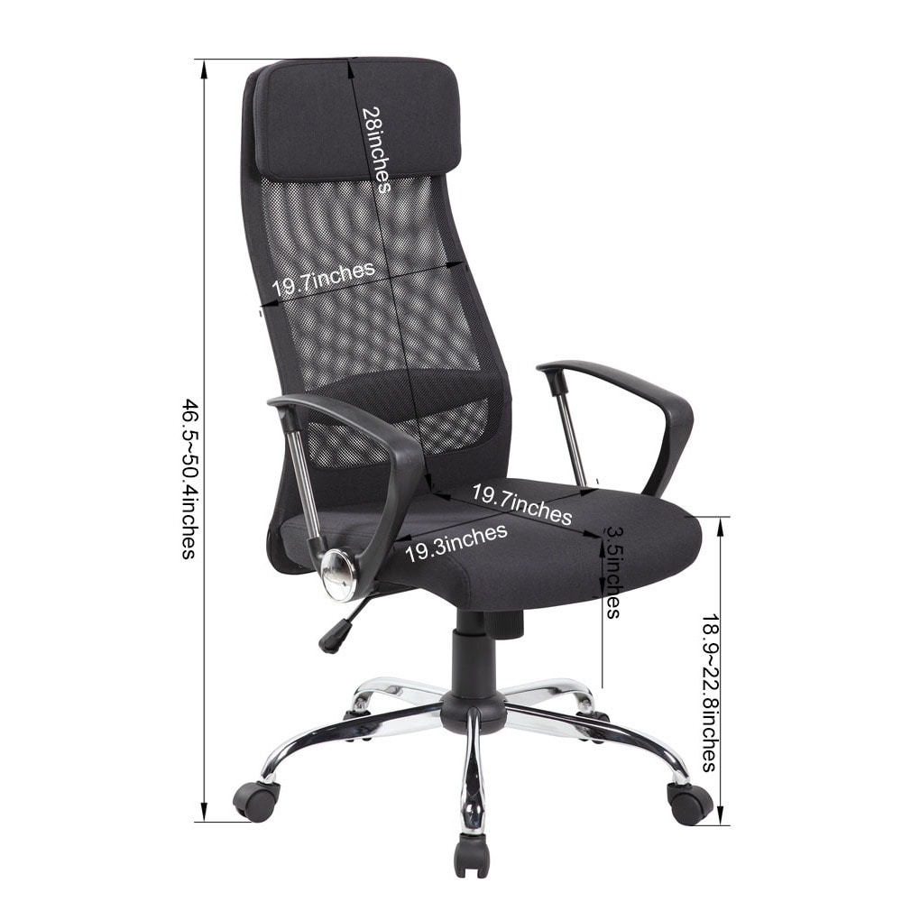 executive mesh office chair turquoise shop and fabric high back adjustable headrest