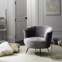 Mid Century Modern Living Room Armchair Furniture Dining Safavieh Retro Arlette Grey Velvet Club Chair