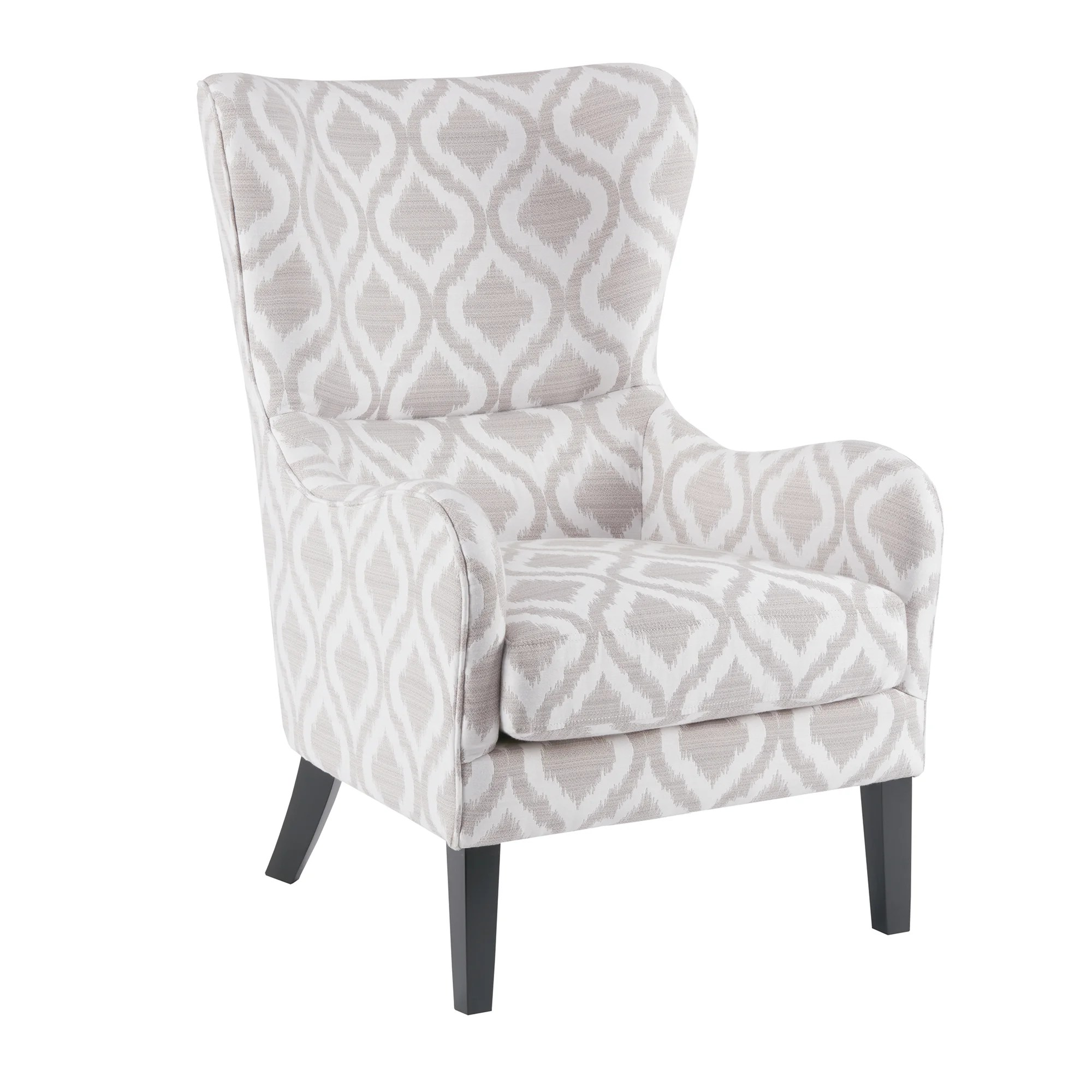 White Wing Chair Madison Park Leda Grey White Swoop Wing Chair