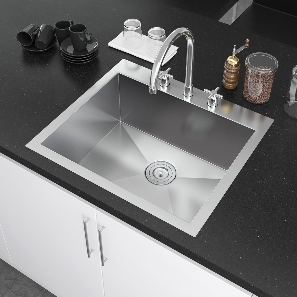 22 inch kitchen sink portable island target shop exclusive heritage 25 x single bowl top mount drop in 16 gauge stainless steel
