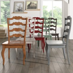 Ladderback Dining Chairs Table With 6 Shop Eleanor French Ladder Back Wood Chair Set Of 2 By Inspire Q Classic