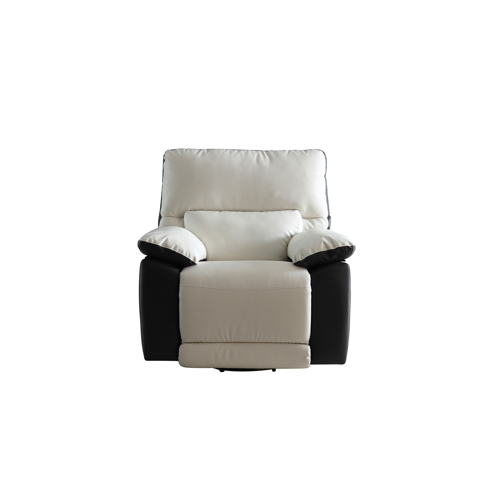 Modern Recliner Chair Modern Two Tone Bonded Leather Oversize Recliner Chair