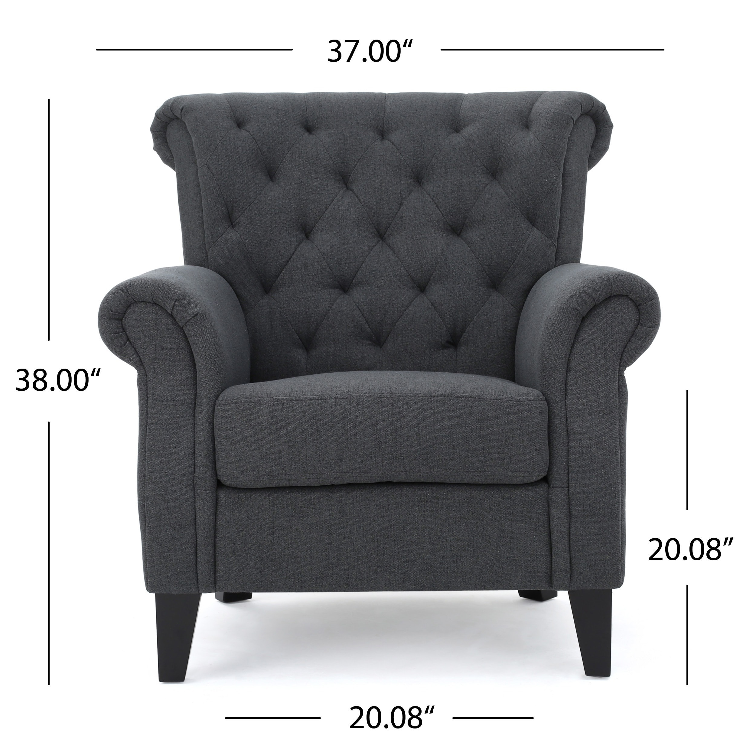 Tufted High Back Chair Merritt High Back Tufted Fabric Club Chair By Christopher Knight Home