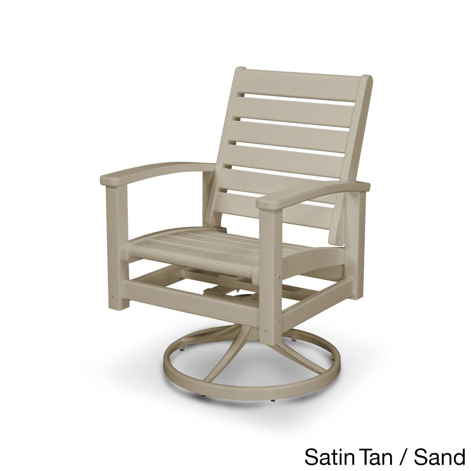 Swivel Rocking Chairs Polywood Signature Outdoor Swivel Rocking Chair