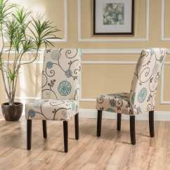 Cloth Dining Room Chairs Baby Blue Chair Covers Shop T Stitch Floral Fabric Set Of 2 By Christopher Knight Home On Sale Free Shipping Today Overstock Com 13808373