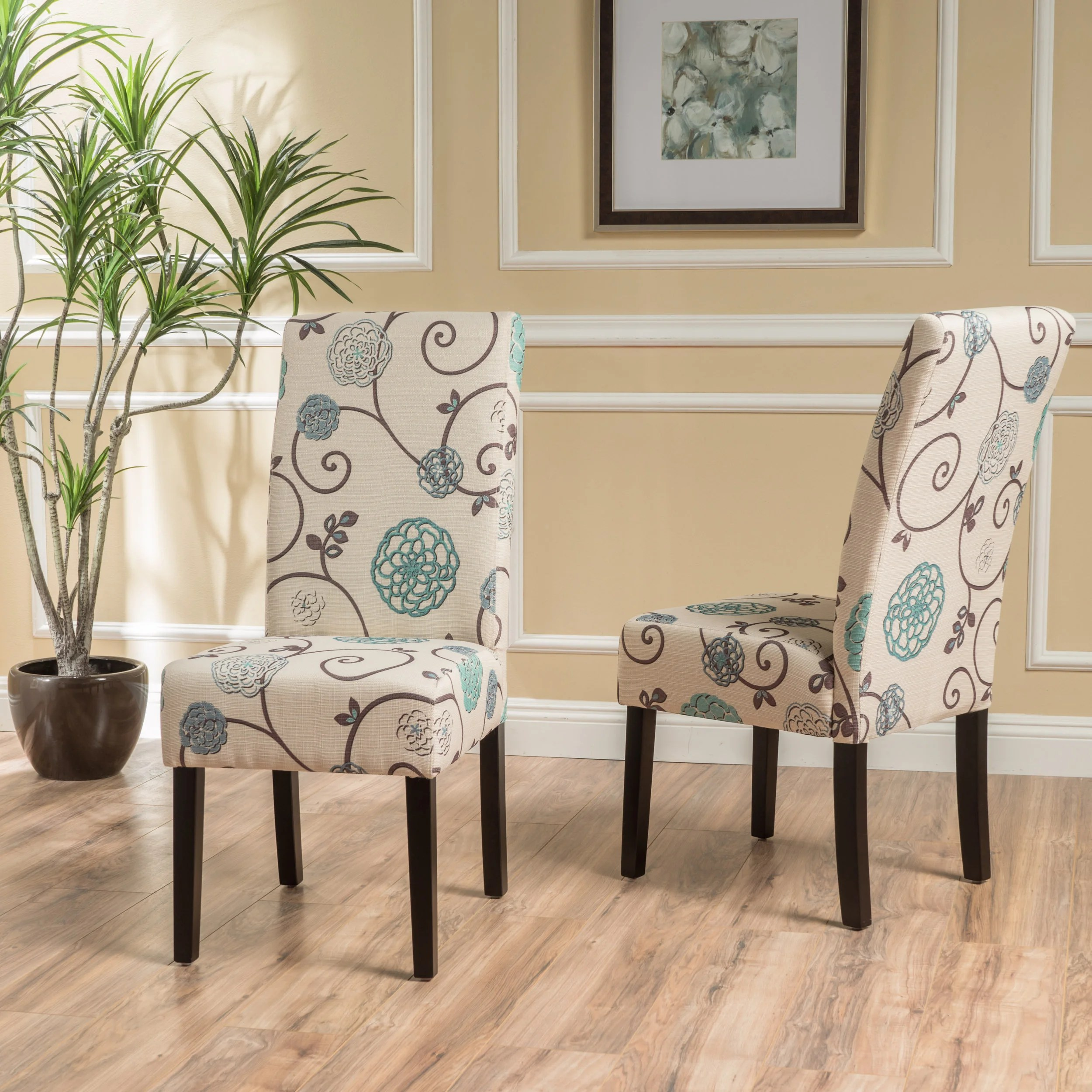 dining chairs fabric adirondack rocking chair woodworking plans shop t stitch floral set of 2 by christopher knight home on sale free shipping today overstock com 13808373