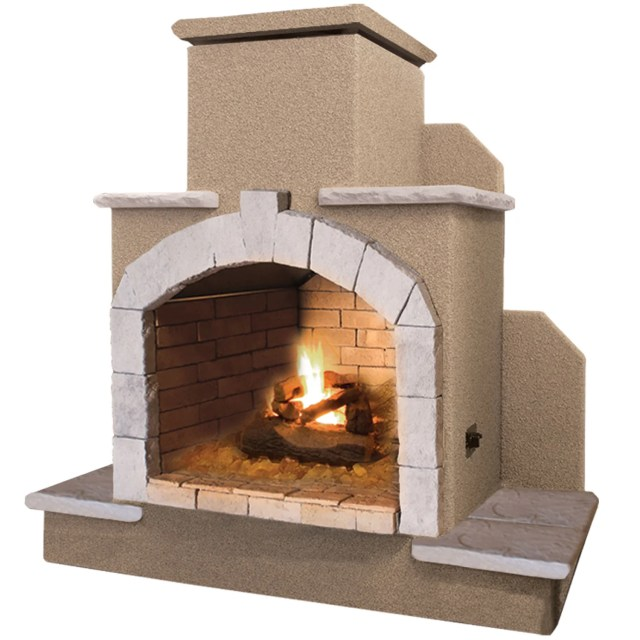 shop 78-inch propane gas outdoor fireplace - free shipping today