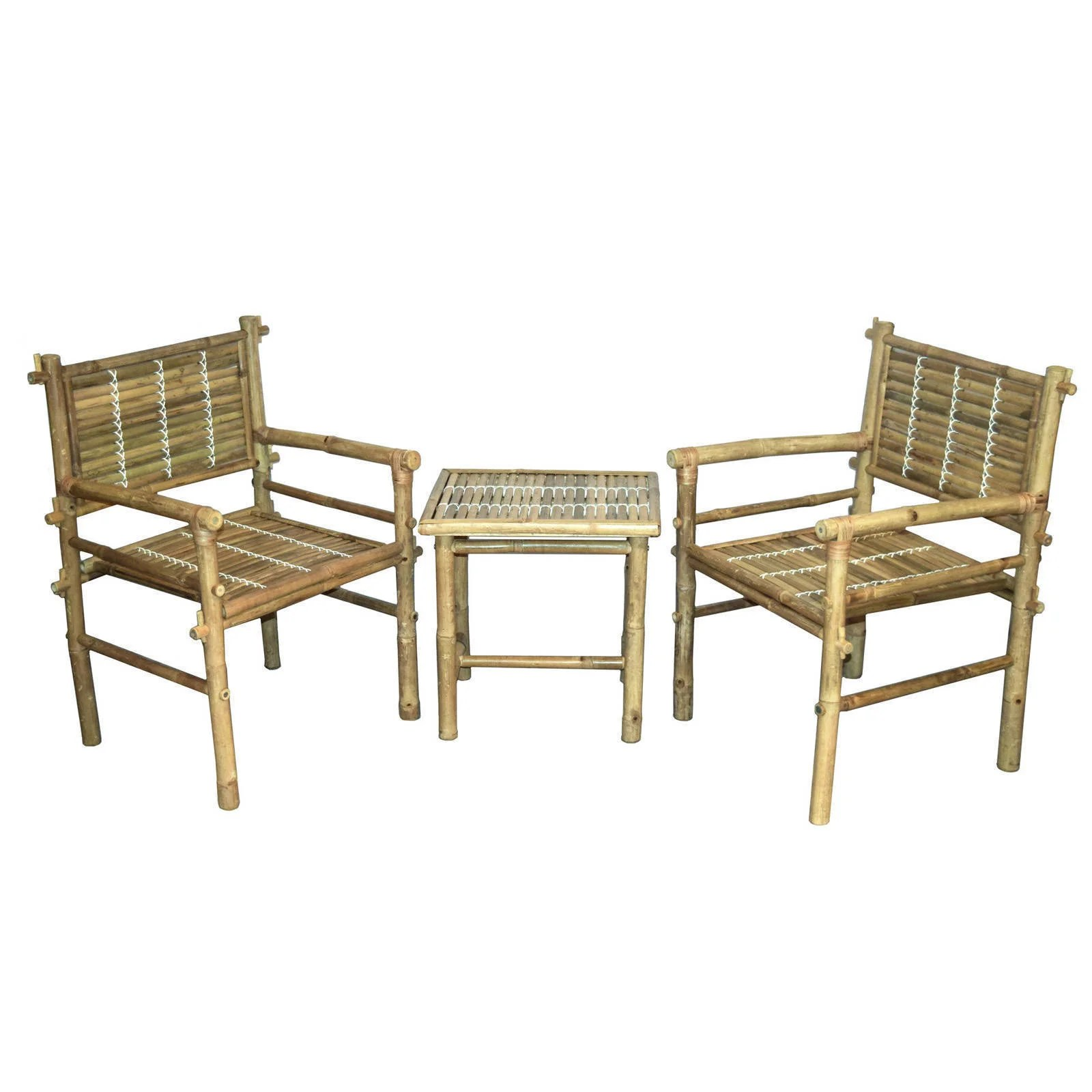 Bamboo Chairs Handmade 3 Piece Natural Bamboo Chairs And Table Set Vietnam