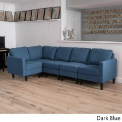 Sofas Dark Blue Modern Sectional Austin Shop Zahra 5 Piece Fabric Sofa By Christopher Knight Home On Sale Free Shipping Today Overstock Com 14057138