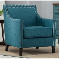 Teal Accent Chair Diy Dining Room Upholstery Shop Strick Bolton Earnshaw On Sale Free