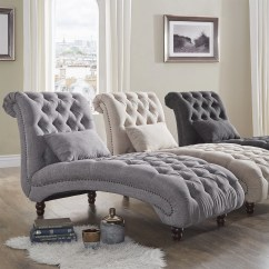 Chaise In Living Room Paint Colors For With High Ceilings Shop Knightsbridge Tufted Oversized Lounge By Inspire Q Artisan