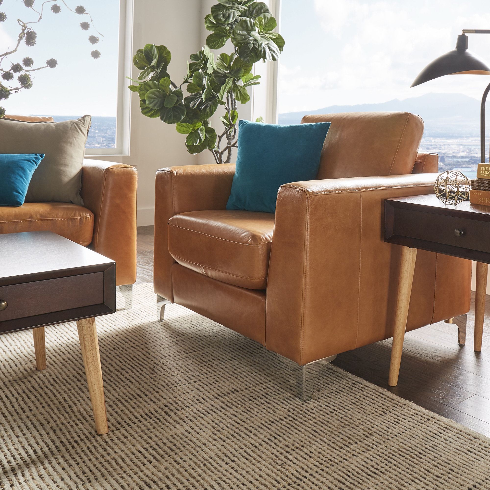 Modern Leather Chairs Bastian Aniline Leather Chair Inspire Q Modern