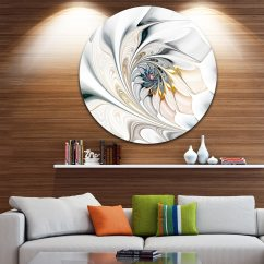 Metal Wall Art Decor For Living Room Designs With Sectional Couches Shop Designart White Stained Glass Floral Circle By Design
