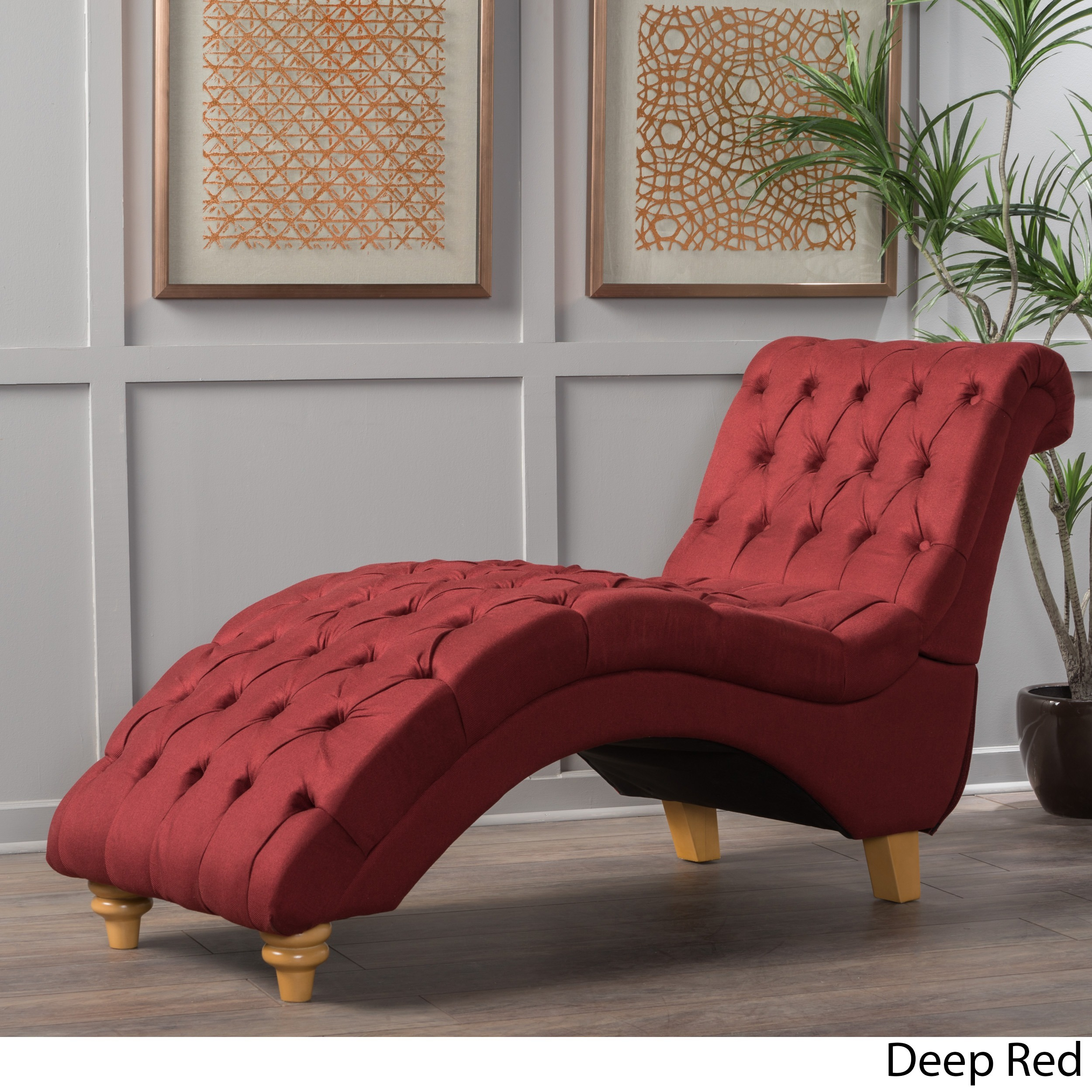 red chaise lounge chair poker table and chairs set shop rhodes tufted fabric by christopher knight home free shipping today overstock com 14271794