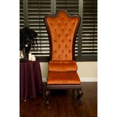 High Backed Throne Chair Trendy Accent Chairs Shop Gothic Inspired Orange Velvet Back Free
