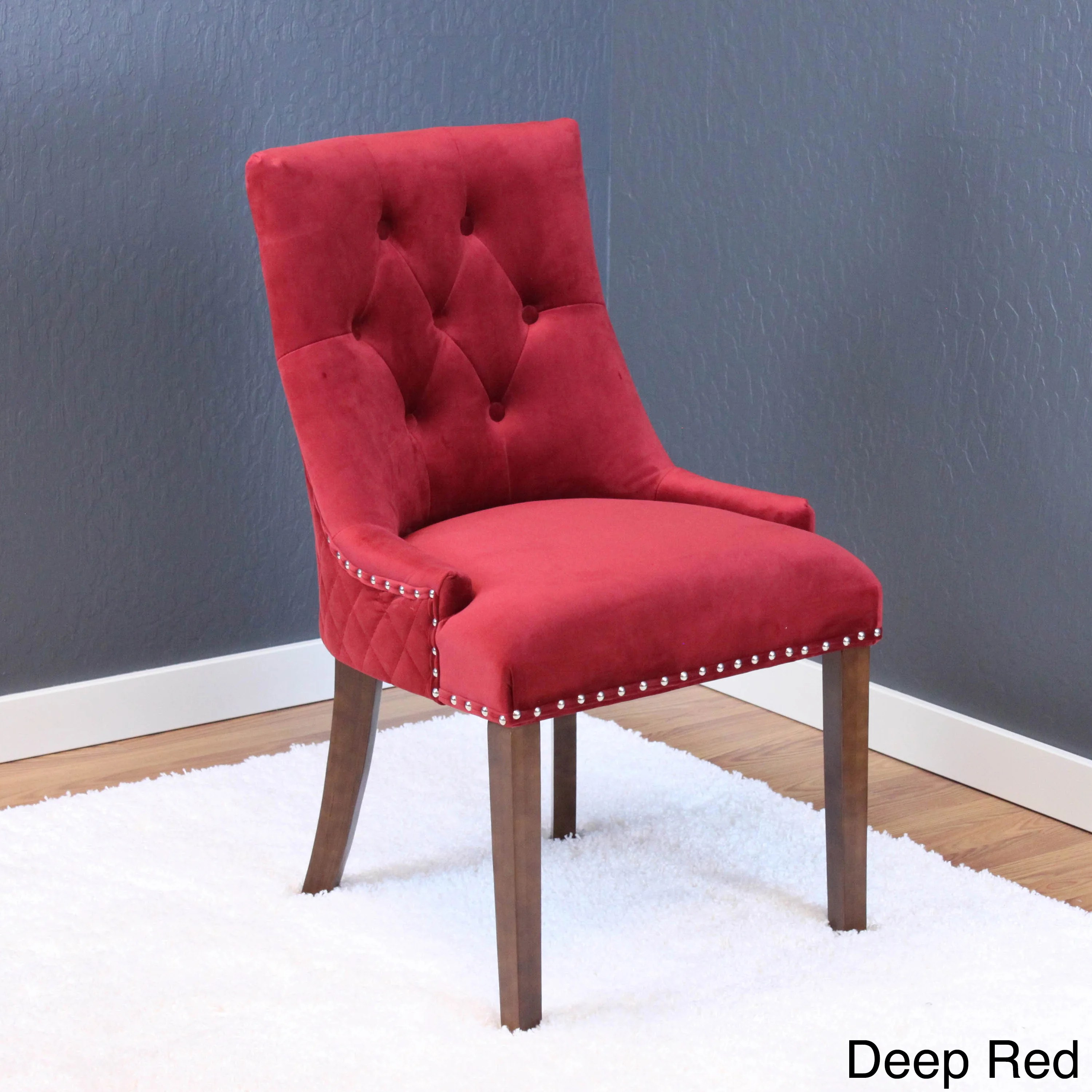 red tufted dining chair covers hamilton shop lemele velvet chairs set of 2 free shipping today overstock com 14578630
