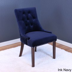 Navy Blue Dining Chairs Set Of 2 Baby Beach Shop Lemele Tufted Velvet On Sale Free Shipping Today Overstock Com 14578630
